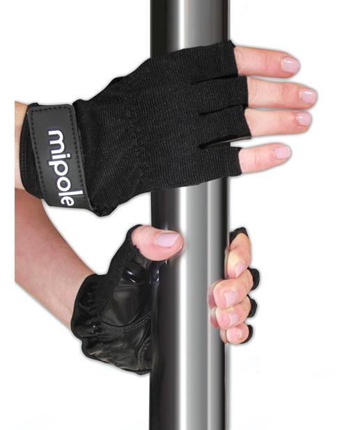 MiPole Dance Pole Gloves (Pair) Medium - Black