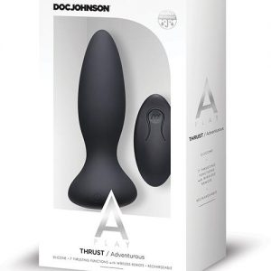 A Play Thrust Adventurous Rechargeable Silicone Anal Plug w/Remote